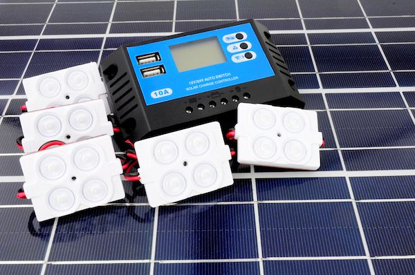portable solar panel with generator